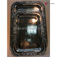 Stainless steel Food serving tray with handles Home decoration On sale