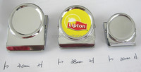 Square grossy metal magnetic memo double clip with strongly magnetic for paper in china supplier