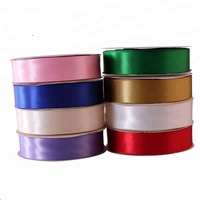 Wholesale Custom Solid Color 1-1/2 Inch Single Face 100% High Quality Polyester ribbon