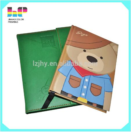 schedule diy table calendar 2016 colorful pvc leather notebook