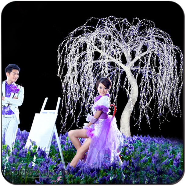 TOP-wil-001 led willow tree wedding mandap pillar decoration
