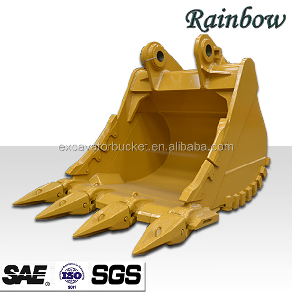 40tons Excavator Heavy Duty Rock Bucket with Tiger Teeth