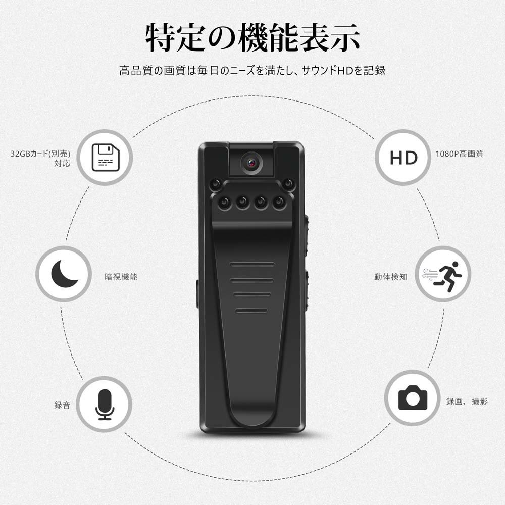 Mini Recorder Hidden 1080P HD Cam180Degrees   with Video recorder can record recorder