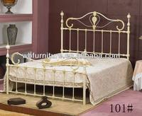 hotel bed/beautiful steel bed/elegant design/furniture GZ iron bed