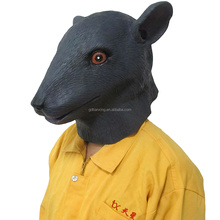 100% natural latex rubber animal mask full head rat mask for halloween party