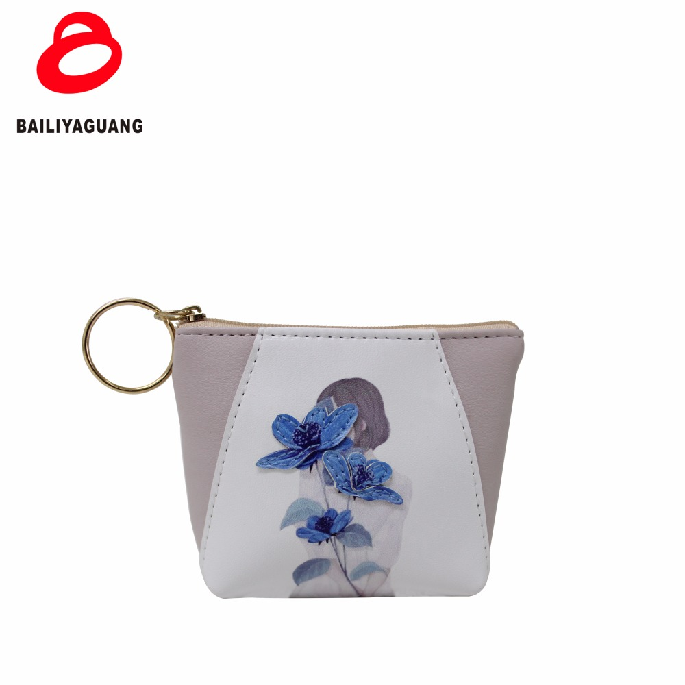 Fashion leather wallet multi-colours small coin purse daily pu material ladies purse