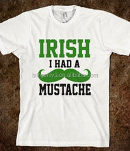 Custom I Had A Mustache Heat Press Vinyl Film for St Patricks Day Shirt
