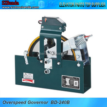 Bilateral overspeed governor for lift with machine room