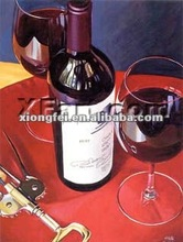 2012 pop red wine art painting for living room