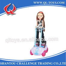 New design plastic electric doll scooter music doll