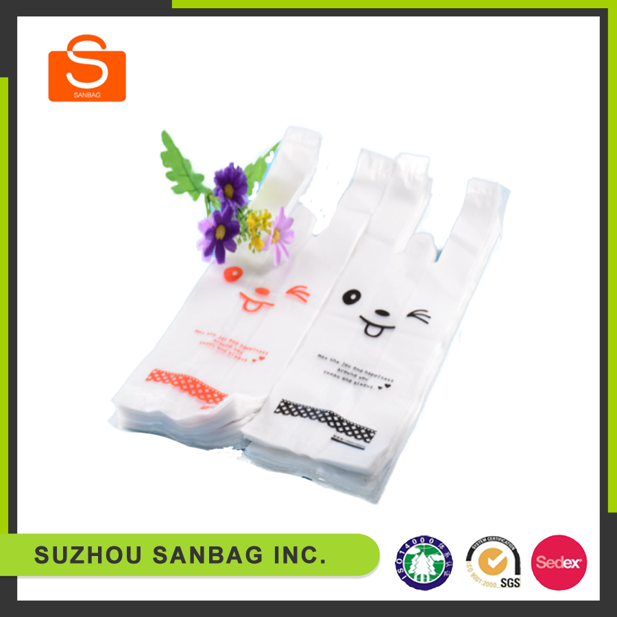 wholesale custom printed disposal hdp plastic drink bags