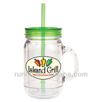 double wall plastic photo insert tumbler with straw
