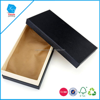 2pcs/lot high-grade black Luxury Fashion Leather Jewelry Packaging Gift Box Strong Hard Paper Cardboard