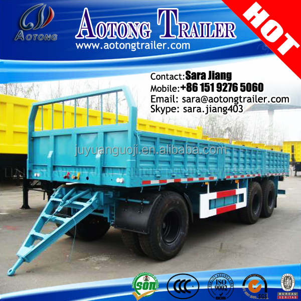 20-35Ton enclosed cargo dumping trailer box trailer for transporting