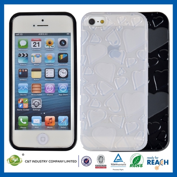 New arrival high quality for iphone 5 / 5s ultra thin transparent crystal clear hard tpu case cover