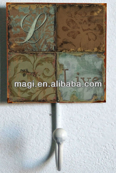 Live Laugh Love Vintage Metal Art Hook for Wall Decor
