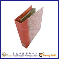 Decoration handmade paper file folder with fastener made in china