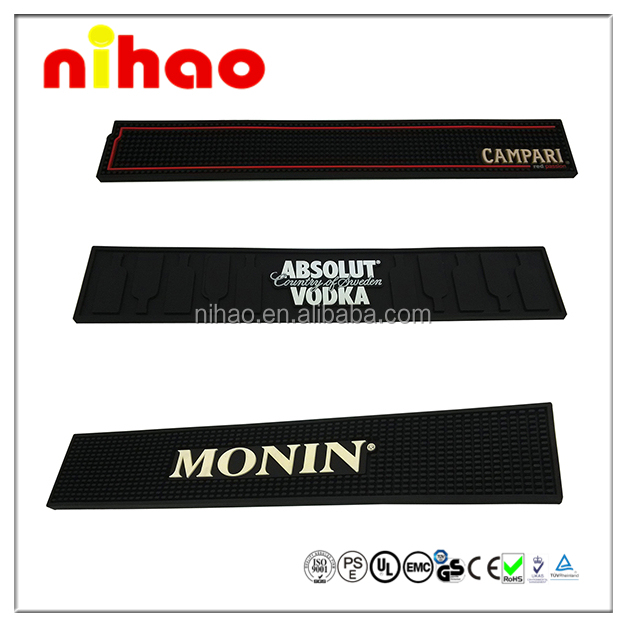 Newest customized eco-friendly rubber pvc bar mat
