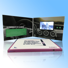 4.3inch lcd video in print/video booklet for Promotion, Business Gift