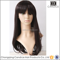 India Hair Wig Price Honey Brown Hair Wig High Temperature Synthetic Wig