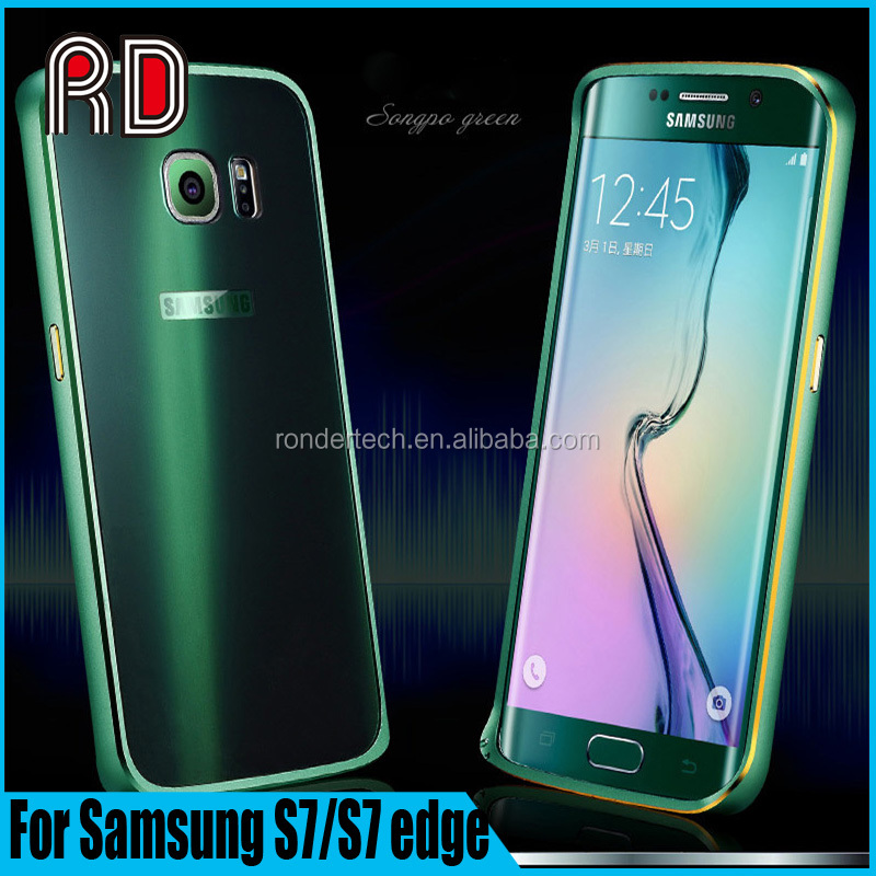 New Colorful Curved Screen Slim Aluminum Metal Bumper Phone Case for Samsung S7/S7 edge Protective Shell