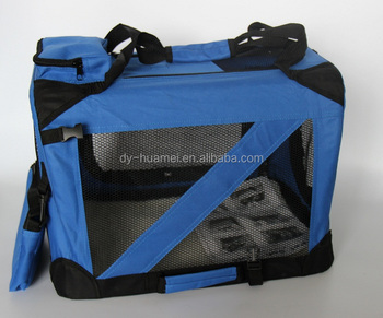 Soft dog carrier bag with durable mesh Steel frame pet carrier