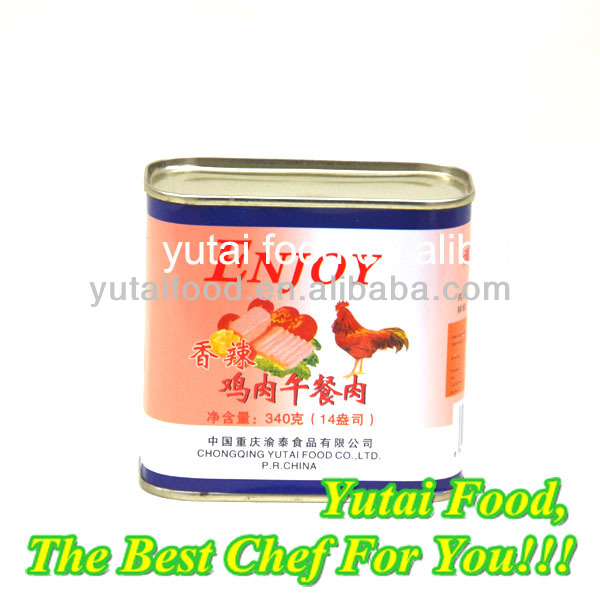Halal Meat Scrumptious Food Canned Chicken Luncheon Meat