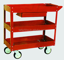 The New Mobile Three shelf Steel Metal 4 Wheel work table with drawers Service Cart SC1351