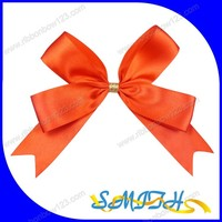 Red pre tied satin ribbon gift wrap bow for packing