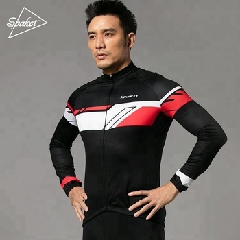 long sleeve cycling jersey men train team cycling apparel sportswear bike uniform
