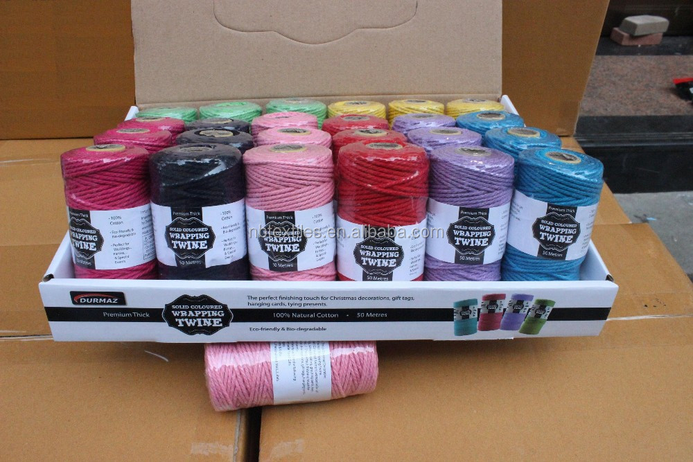 Colorful bakers cotton twine