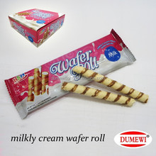 Wafer Roll Milk Cream Filled Biscuits