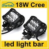 dual row wholesale 4inch 18W truck roof off road tractor light bar