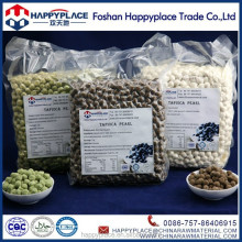 matcha tapioca pearls, white tapioca pearls, colorful tapioca pearls