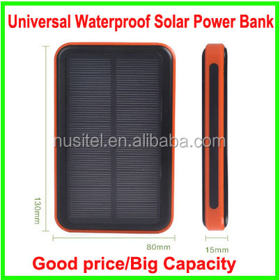 2016 Hot sale high capacity for all mobile phone dual USB 20000mah universal waterproof solar power bank