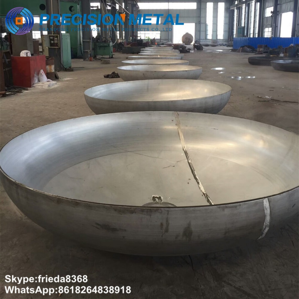 stainless steel tank dished head pipe end cover steel hemisphere torispherical dished head
