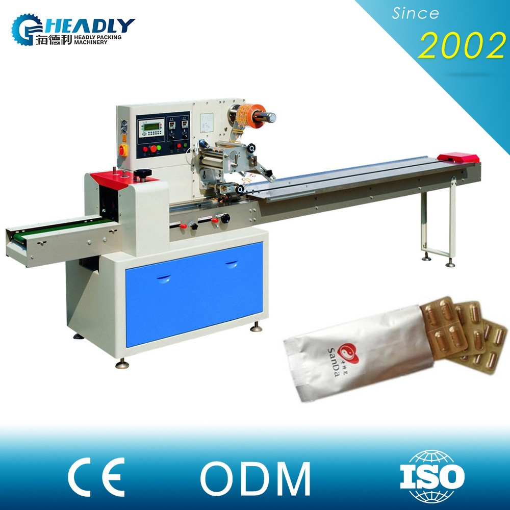 Cheap price horizontal name card mini flow wrapper packing machine