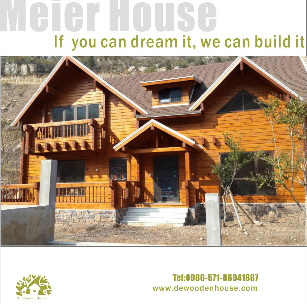 Wooden Villa house(luxury wooden prefabricated house)