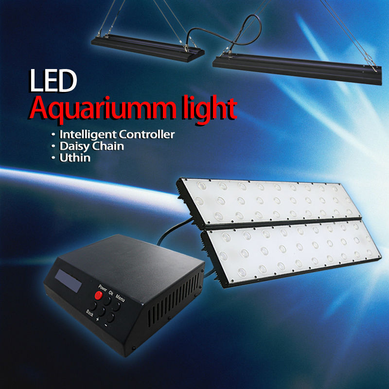 "Hot Sale for coral reef aqarium with sunset sunrise lunar cycle 30/60/90 degree optics 48"" dimmable cynthia led aquarium light"