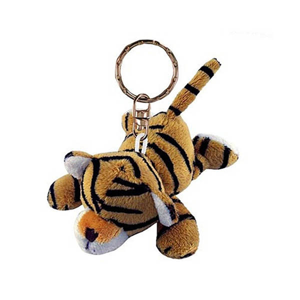 wholesale plush animal tiger keychains,make plush keychains