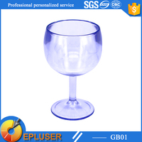 China supply plastic decorative wine glass,mini plastic goblet,red wine glass goblet