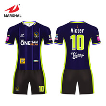 Imported Ink Printing Team Wear Football Soccer Shirt Jersey Pattern Design Soccer Uniforms
