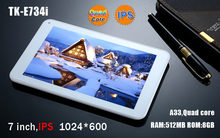 tech pad 7 inch android tablet 7 inch quad core IPS smart tablet pc with wifi