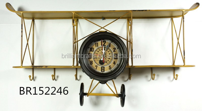 Fashion Europe style antique metal airplane home decors