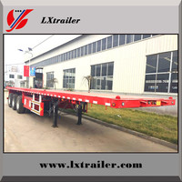 factory price tri-axle 60 ton 40ft container flatbed truck trailer / semitrailer / container semi-trailer with twist lock