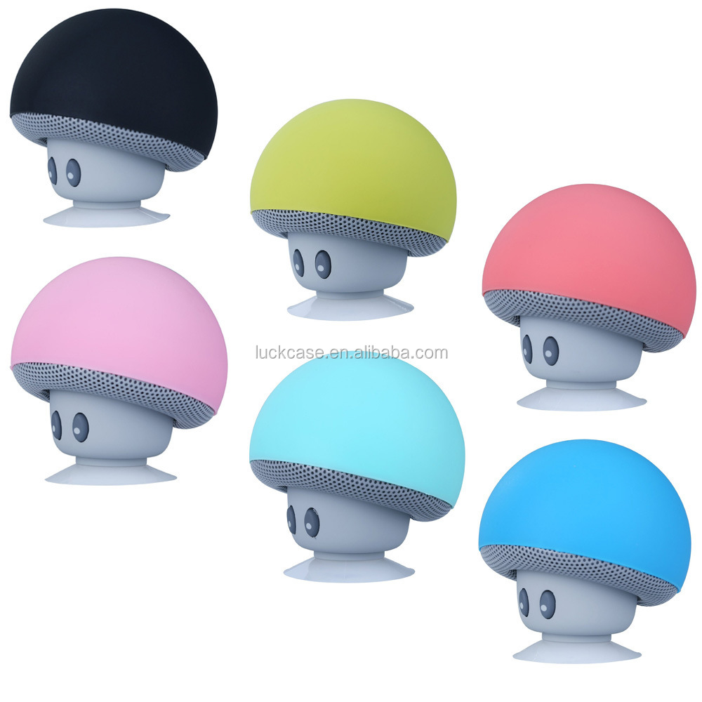 Portable Cute Mushroom Wireless Speaker Electronic Funny Gift Phone Holder Silicone Case Music Speaker