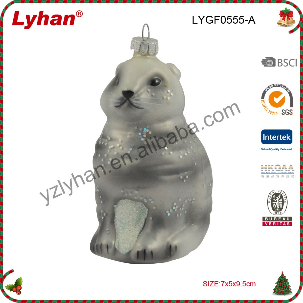 Easter decorative glass figurine for home decoration