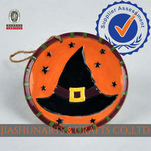 Witch Hat Relief Ceramic Decorative Wall Hanging