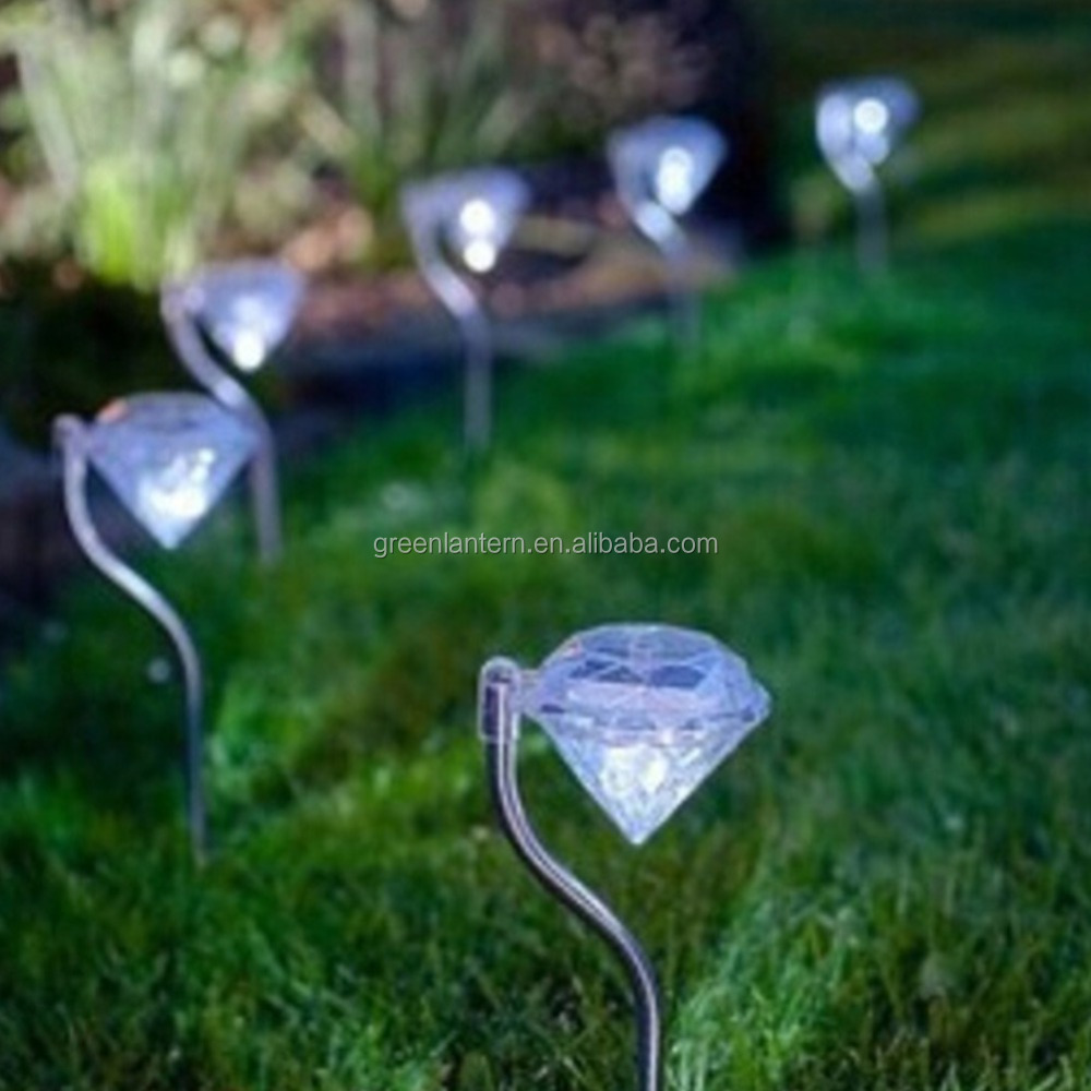 Solar Lawn Light LED Bulbs RGB 12V Garden Lamp Patio Lamp LED Solar Lamp Diamond Yard Light Outdoor Light