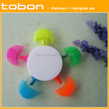5 in 1 colorful Flower highlighter set, promotion gift highlighter pen